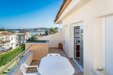 L'Escala - Apartment with community swimming  pool and sea view, near the beach