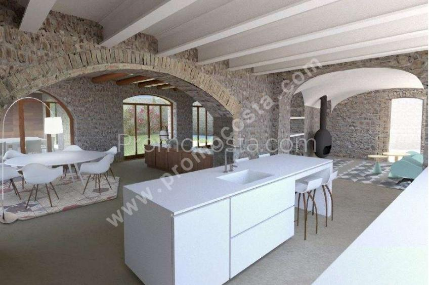 Bellcaire, Stunning rustic house with garden and pool