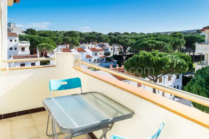 L'Escala, Apartamento con vista mar y piscina comunitaria