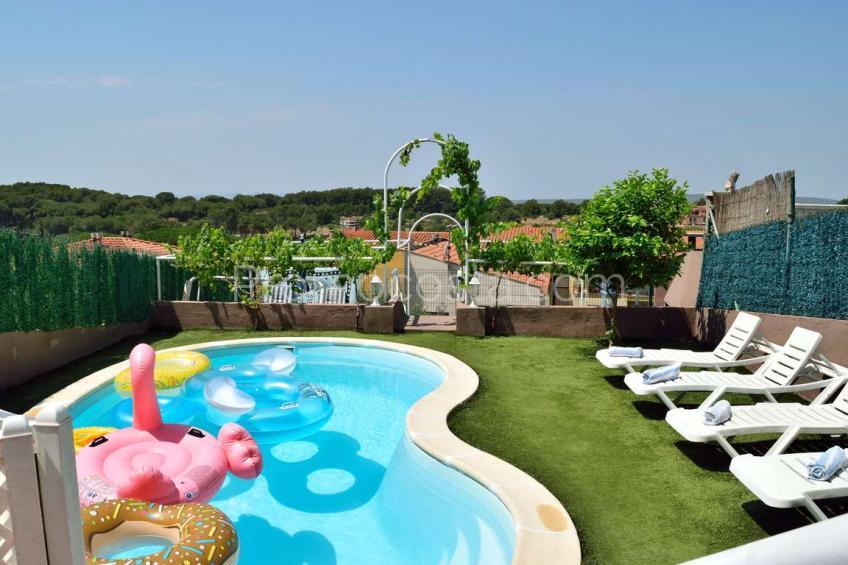 L'Escala, Casa amplia con piscina privada y calefacción central